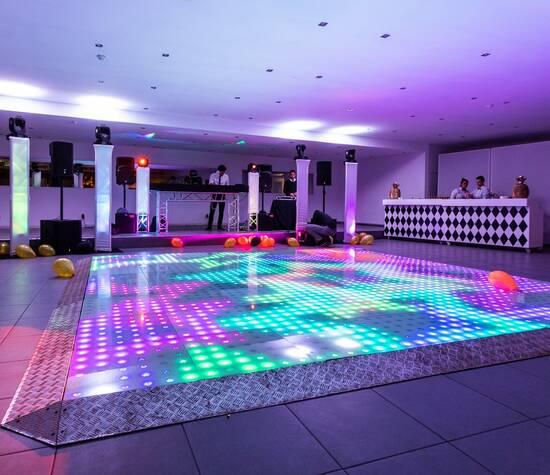 Set Up for Dance Floor