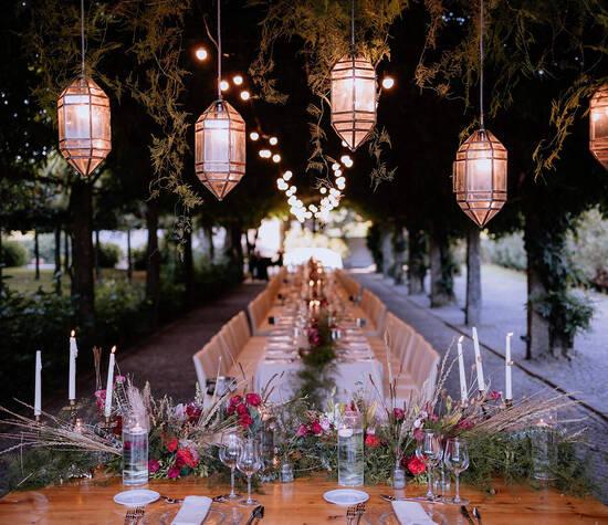 Banquete casamento exterior