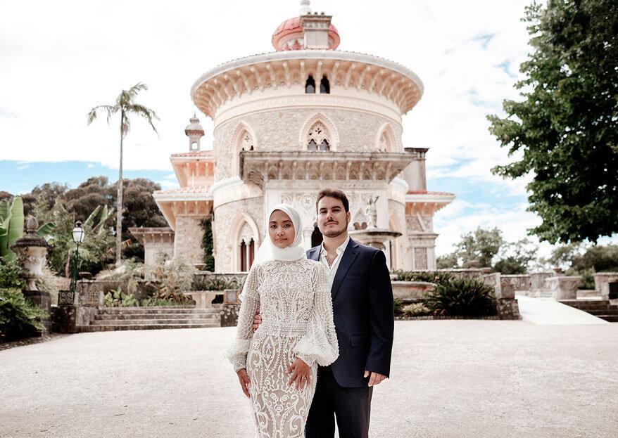 Dianna e Hugo: duas sessões de noivado com os tons quentes da terra e os azuis frios do rio
