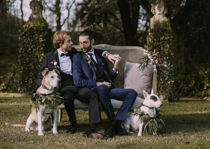Irreverente casamento de inverno: um editorial que narra a sofisticação e classe do casal!