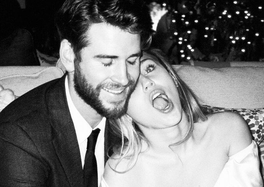 Miley Cyrus partilha imagens inéditas do casamento com Liam Hemsworth