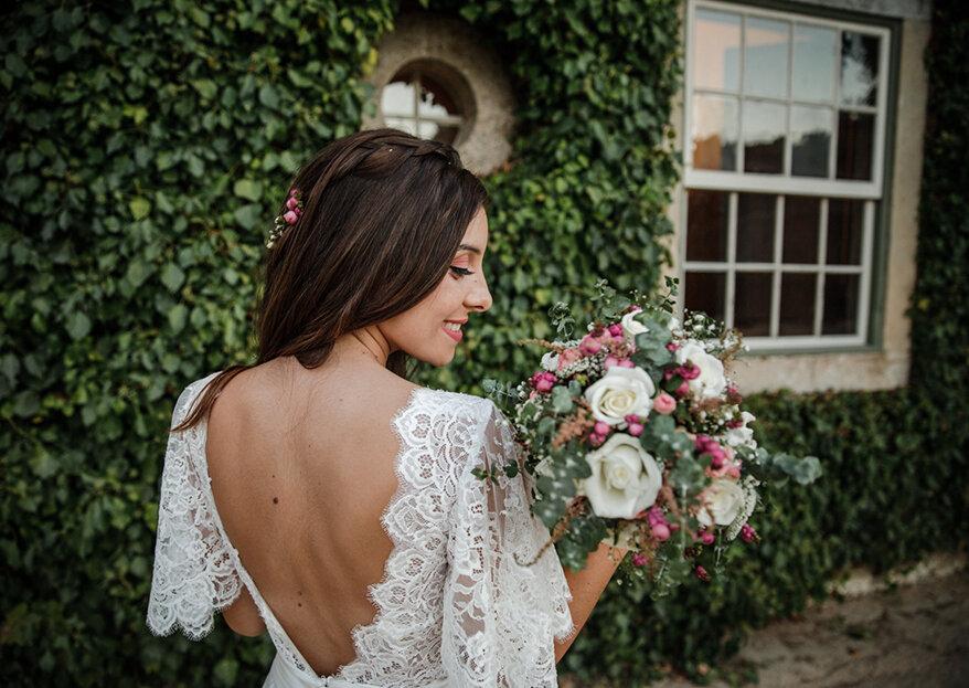 Como combinar vestido de noiva e o bouquet?