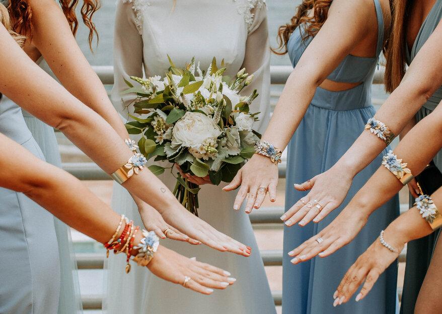 Corsage: a pulseira floral para madrinhas e damas de honor que sonham em brilhar