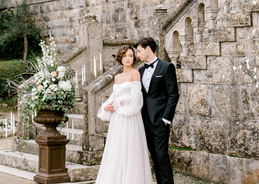 Como escolher o seu vestido de noiva para uma cerimónia civil em 5 passos