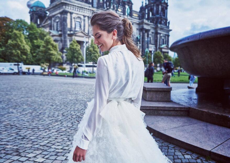 Noivas de camisa: os sete melhores estilos para um visual urbano
